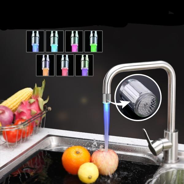 Hydro powered LED Water Faucet Light Banner 02