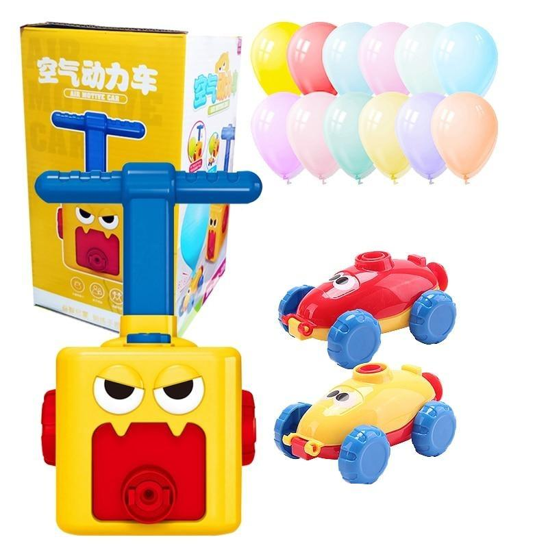 Inertial Air Power Balloon Car Toy Puzzle Fun Education Kids Car Toys Science Experiment Toy for