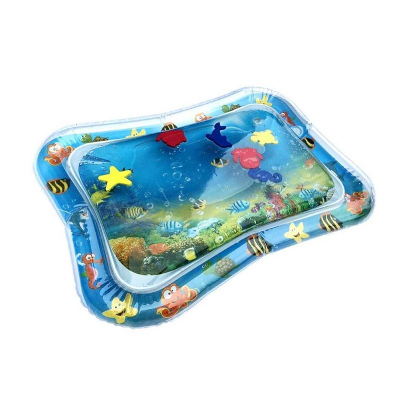 shop inflatable water play mat for baby baby kids water play mat dolphin inflatable infant tummy time toddler fun activity center 14577291755569