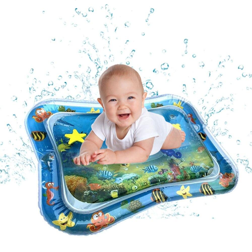 shop inflatable water play mat for baby baby kids water play mat dolphin inflatable infant tummy time toddler fun activity center 14577291886641