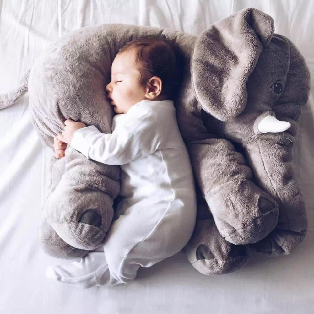 sweet and rosy 40cm gray giant elephant plush toy baby pillow 4869158240317